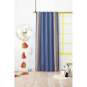 Pillowfort Blue Striped Blackout Curtain Panel